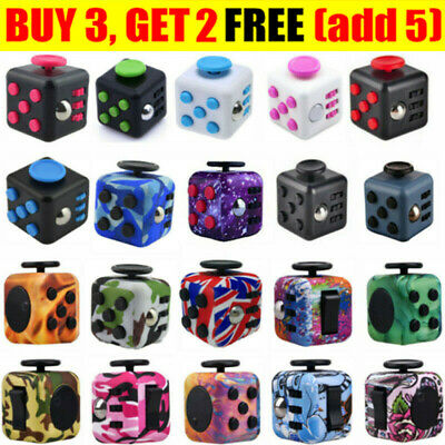 AU10.75 • Buy Fidget Toys Hand Finger Cube 3D Focus Stress Reliever Toy Magic For Kids Adults