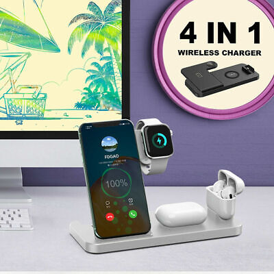 AU29.24 • Buy 4 In 1 Wireless Charging Station Dock Charger Stand IWatch Air Pods IPhone 15W