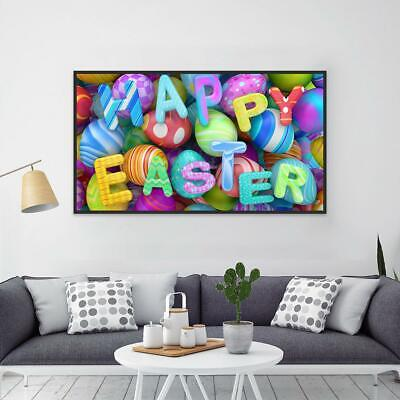 5D DIY Full Drill Diamond Painting Easter Egg Cross Stitch Embroidery Home Decor • 7.24£