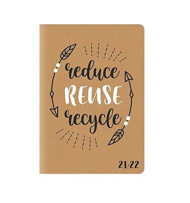 £3.49 • Buy 2021-2022 A5 Academic Diary Kraft Fully Recyclable School Year Student Planner