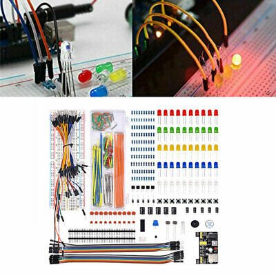 Electronic Component Starter LED Buzzer Resistor Wires Breadboard Transistor Kit • 11.71£