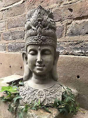 Beautifully Detailed Thai Buddhas Bust Statue For The Home Or Garden. From Sius • 29£