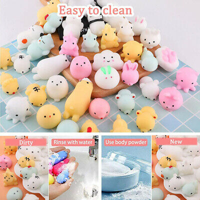 AU8.99 • Buy 5-100Pcs Cute Animal Squishies Kawaii Mochi Squeeze Toys Stretch Stress Squishy