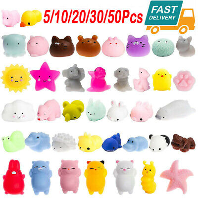 AU8.99 • Buy Kawaii Mini Animal Stress Relief Mochi Squishy TPR Squeeze Toys For Kids Adults
