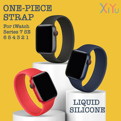 AU6.99 • Buy For Apple Watch Band Series SE 6 5 4 3 2 Solo Loop Silicone Elastic IWatch Strap