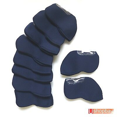 AU20.50 • Buy 10 X Golf Iron Covers Fit Mizuno Ping Callaway Cobra Protect Club Bag W/P Navy
