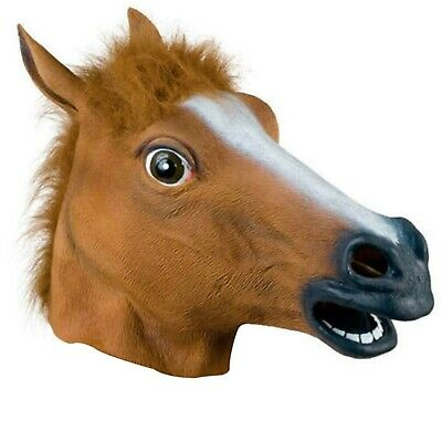 £5.99 • Buy Rubber Horse Head Mask Panto Fancy Dress Party Cosplay Halloween Adult Costume