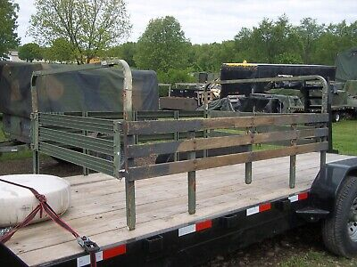 $655 • Buy Military Surplus  M101 Cargo Trailer Side Rails,and 2 Bows--short 3 Bows Us Army