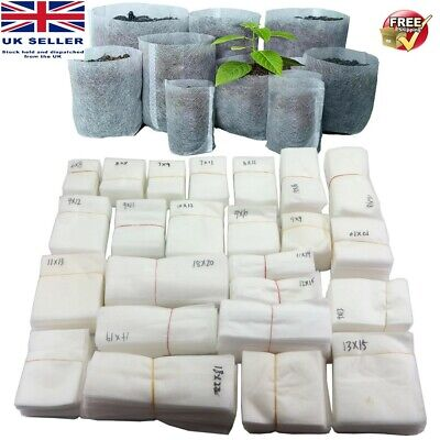 £4.50 • Buy Biodegradable Nonwoven Grow Bags, Eco-Friendly,  Packs Of 25 Or 50 Various Sizes