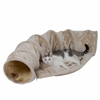 Cat Kitten Adventure Tunnel & Soft Cushion Set With Exciting Toys On Both Ends • 35.16£