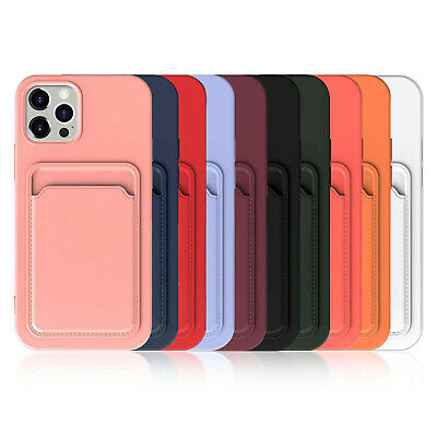 AU8.99 • Buy For IPhone 12 11 Pro Max XS XR 8 7+ Case Silicone Wallet Card Holder Slim Cover