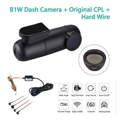 AU85.99 • Buy Blueskysea B1W Wifi Car Dash Camera Loop Recording + Free CPL + Hard Wire Fuse