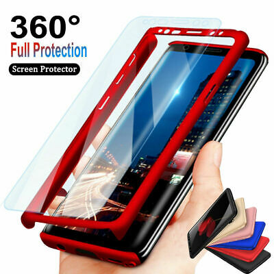AU9 • Buy For Samsung Galaxy S9,S8,S7,S10 Plus 360° Full Body Hard Case + Screen Protector