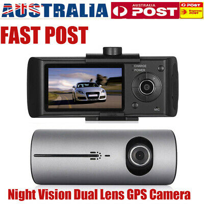 AU57.99 • Buy Car Dash Cam G-Sensor GPS Camera Night Vision HD Dual Lens Video Recorder DVR AU