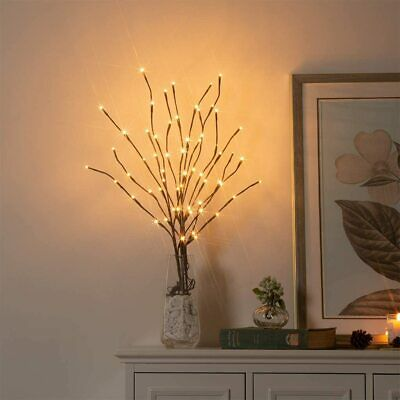 20 LED Branch Twig Bead Lights Light Up Willow Tree Branches Easter Home Decor • 9.99£