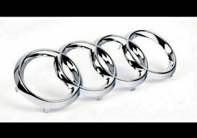 £8.99 • Buy Silver Chrome Front Grille Badge Rings Logo Emblem Audi A3 A4 A5 A6 Sline 273x94