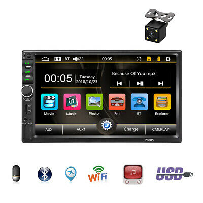 $58.88 • Buy 7in Double 2DIN Car FM Stereo Radio MP5 Player Touch Screen BT Audio USB/TF/AUX