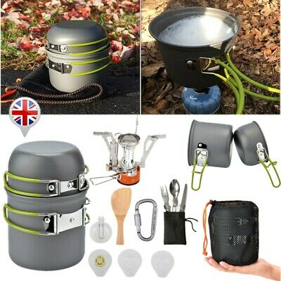 £21.59 • Buy Cook Set Portable Camping Cookware Kit Outdoor Picnic Hiking Cooking Equipment