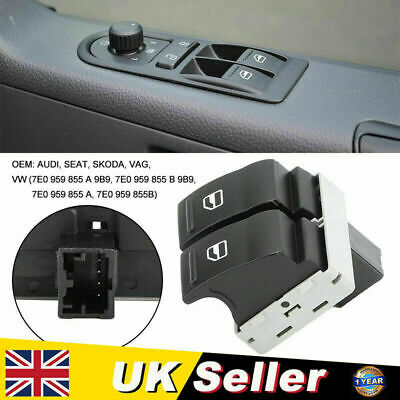 £4.99 • Buy Electric Window Double Switch Driver Side Fit For VW Transporter T5 Platform NEW