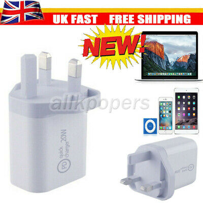 £5.72 • Buy UK Plug PD 20W USB-C Type C Fast Wall Charger Adapter For IPad IPhone 12 Pro Max