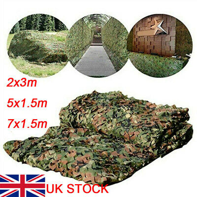 Camouflage Netting Camo Net UK Hunting Shooting Camping Army Green Hide Cover • 10.69£