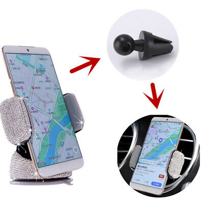 £6.17 • Buy Faux Diamond-studded Car Phone Holder Car Air Outlet Car Navigation Stand Z