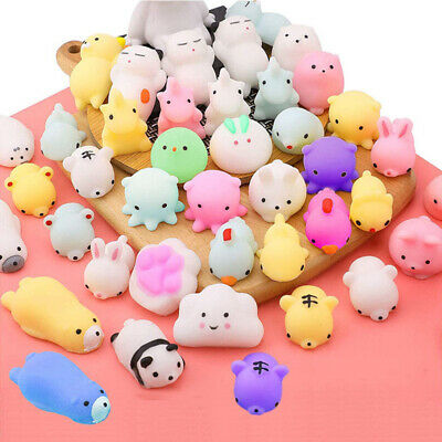 AU17.99 • Buy 50PCS Cute Animal Squishies Kawaii Mochi Squeeze Toys Stretch Stress Squishy AU