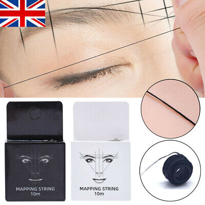 $5.30 • Buy Natural Pre Inked Eyebrow Mapping String Thread Brow Marker Microblading 10m UK