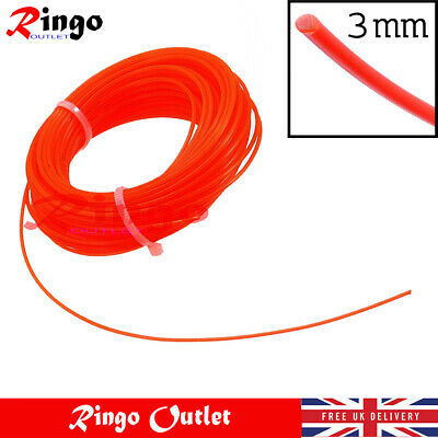 Heavy Duty Strimmer Line 3MM X 15M  For Petrol Strimmer Trimmer Wire Line UK • 4.49£