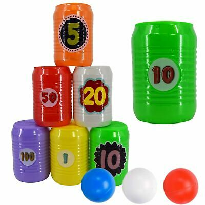 £5.99 • Buy Kids Can Toss Game Set Indoor Outdoor Toy Tin Can Alley Garden Party Games 9 Pcs
