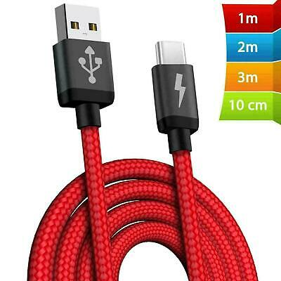 £2.99 • Buy HeavyDuty USB C Type C Charging Cable Braided Fast Phone Charger Long Lead 2m 3m