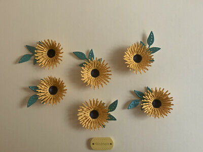 £2.95 • Buy Delightful Handcrafted 6 Paper Sunflowers 🌻 Crafts Card Making Scrapbook