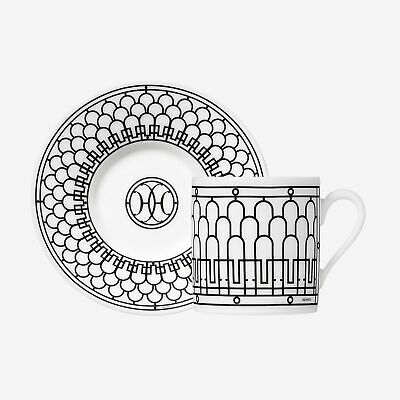 £217.86 • Buy Hermes H Deco Pair Of Coffee Cups & Saucers #p037017p Brand Nib Save$ French F/s