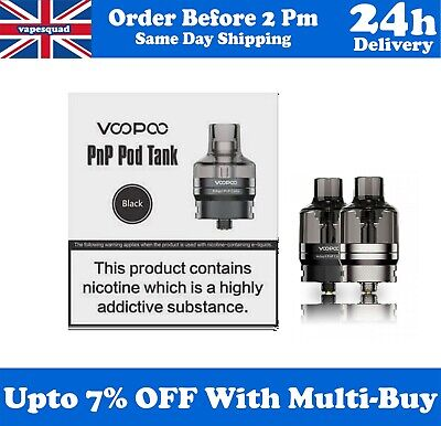 VOOPOO PNP POD TANK XL / 2ML With PNP-VM1 & PNP-VM6 Coils - Pods Cartridge Tank • 11.99£
