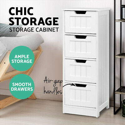 AU72.90 • Buy Storage Cabinet Chest Of Drawers Dresser Bedside Table Bathroom Stand Furniture