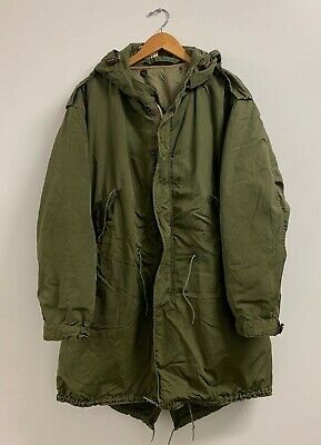 $750 • Buy M-51 Fishtail Parka Shell With Liner Size Small US ARMY Q-19