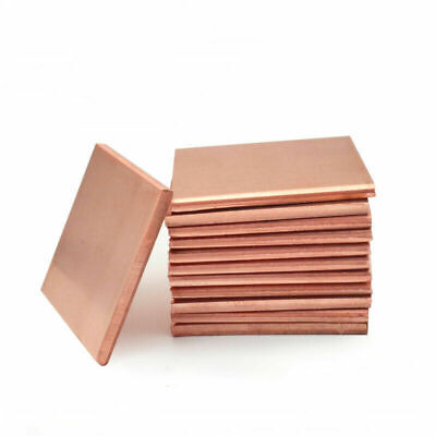 £23.79 • Buy High Purity T2 Copper Sheet 100/150MM Square Plate Thick 1/2/3/5/8/10MM UK