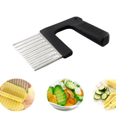 £5.20 • Buy 2PCS Potato Crinkle Wavy Cutter Stainless Steel French Fry Chipper Cutter Tool