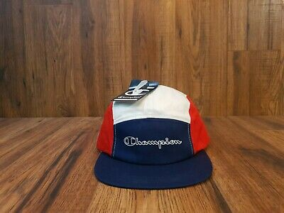 Champion 5 Panel Red/blue/white Cap One Size • 12.99£