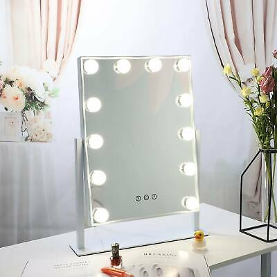 12 LED Hollywood Mirror With Lights Dressing Vanity Makeup Table Desk Bright NEW • 37.98£