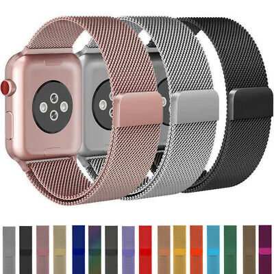 $8.39 • Buy 38-44mm For Apple Watch 6/5/4/3/2/1/SE Magnetic Milanese Loop Band IWatch Strap