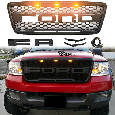$112.98 • Buy Grille For 2004-2008 Ford F150 Raptor Style Fit 2005 2006 2007 W/ LED