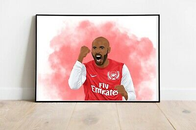 £9.99 • Buy Thierry Henry Digital Drawing Illustration Portrait Poster Print