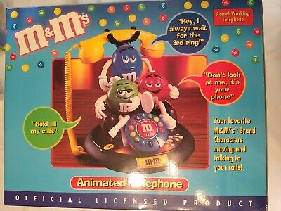 $55 • Buy M&M's Animated Talking Real Telephone Rare Collectable Limited Edition Vintage