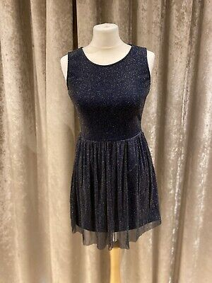 £7.50 • Buy Hearts And Bows Blue Dress With Sheer Back. Size 8.