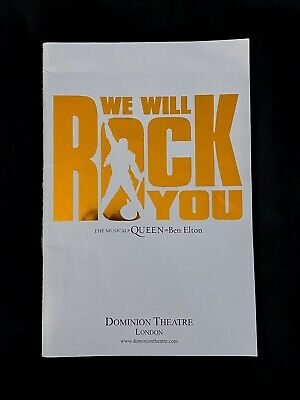 £15 • Buy WE WILL ROCK YOU MUSICAL London Programme Brian May Kevin Kennedy Oliver Tompset