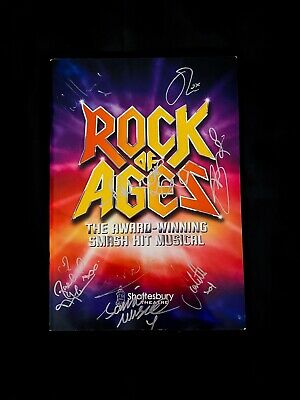 £50 • Buy ROCK OF AGES Musical SIGNED OLC London Programme. Shayne Ward, Oliver Tompsett