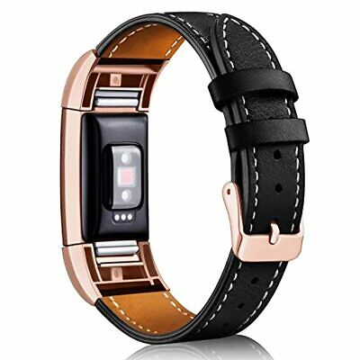 AU42.67 • Buy Fitbit Charge 2 Classic Genuine Leather Wristband Replacement Strap Adjust Band