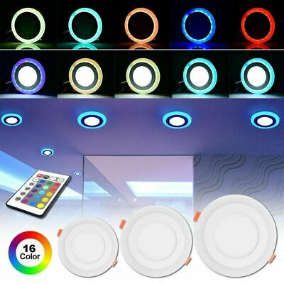 £10.88 • Buy 6/12/18W Dimmable RGB Color LED Panel Light Recessed Flat Ceiling Downlight Lamp