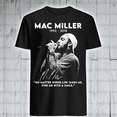 $15.99 • Buy Mac Miller 1992-2018 No Matter Where Life Takes Me Find With T-shirt Size S-3XL